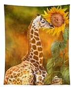 Growing Tall - Giraffe Tapestry
