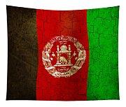 Grunge Afghanistan Flag Tapestry