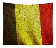 Grunge Belgium Flag Tapestry