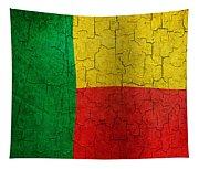 Grunge Benin Flag Tapestry