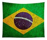 Grunge Brazil Flag Tapestry