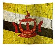 Grunge Brunei Flag Tapestry