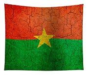 Grunge Burkina Faso Flag Tapestry