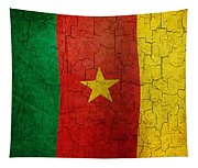 Grunge Cameroon Flag Tapestry