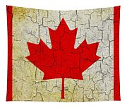 Grunge Canada Flag Tapestry