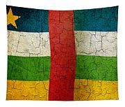 Grunge Central African Republic Flag Tapestry