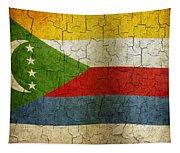 Grunge Comoros Flag Tapestry