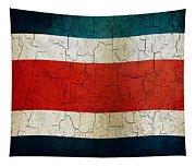 Grunge Costa Rica Flag Tapestry
