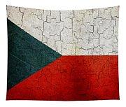 Grunge Czech Republic Flag Tapestry