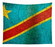 Grunge Democratic Republic Of The Congo Flag Tapestry