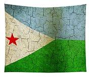 Grunge Djibouti Flag Tapestry