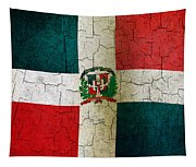 Grunge Dominican Republic Flag Tapestry