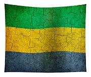 Grunge Gabon Flag Tapestry