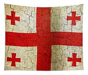 Grunge Georgia Flag Tapestry