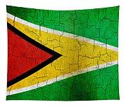 Grunge Guyana Flag Tapestry