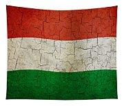 Grunge Hungary Flag Tapestry