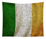 Grunge Ireland Flag Tapestry