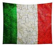 Grunge Italy Flag Tapestry