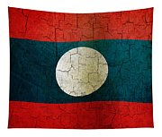 Grunge Laos Flag Tapestry