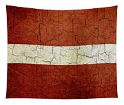 Grunge Latvia Flag Tapestry