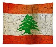 Grunge Lebanon Flag Tapestry