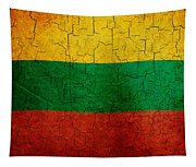 Grunge Lithuania Flag Tapestry