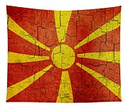 Grunge Macedonia Flag Tapestry