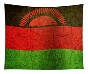 Grunge Malawi Flag Tapestry