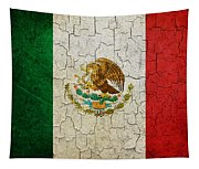 Grunge Mexico Flag Tapestry
