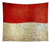 Grunge Monaco Flag Tapestry
