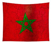 Grunge Morocco Flag Tapestry