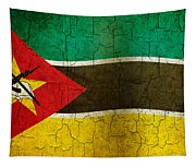 Grunge Mozambique Flag Tapestry