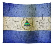 Grunge Nicaragua Flag Tapestry