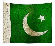 Grunge Pakistan Flag Tapestry