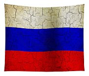 Grunge Russia Flag Tapestry