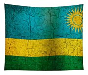 Grunge Rwanda Flag Tapestry
