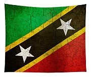 Grunge Saint Kitts And Nevis Flag Tapestry