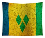 Grunge Saint Vincent And The Grenadines Flag Tapestry