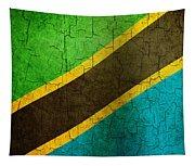 Grunge Tanzania Flag Tapestry