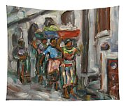 Guatemala Impression V - Left Hand 1 Tapestry