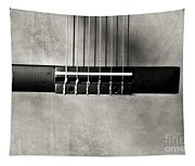 Guitar Abstract In Monochrome Tapestry