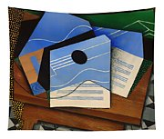 Guitar On A Table Tapestry