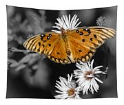 Gulf Fritillary Butterfly Tapestry