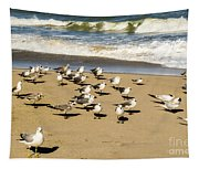 Gulls At The Beach Tapestry