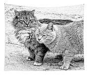 Gutter Kitties Four Tapestry