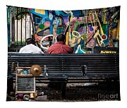 Guys On A Bench - Jackson Square Tapestry