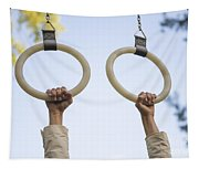 Gymnastic Rings Tapestry
