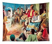 Gypsies Partying Tapestry