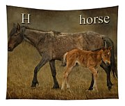 H Is For Horse Tapestry