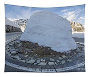 Hairpin Bend With Snow Tapestry